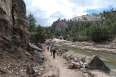 hike to waterfall